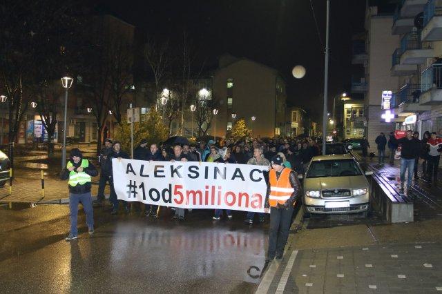 U subotu nastavak protesta 1 od 5 miliona u Aleksincu