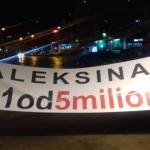 Siniša Kovačević i Janko Veselinović govornici na protestu u Aleksincu