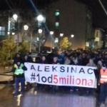 Marko Vidojković i Marko Đurišić govore na protestima u Aleksincu