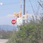 Друмска сигнализација између насеља Тешица и Грејач