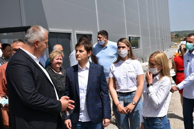 Predsednica Vlade Republike Srbije sa svojim saradnicima posetila opštinu Aleksinac