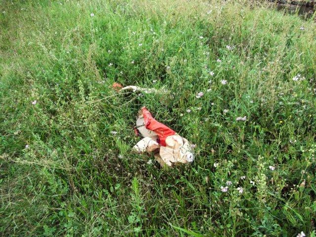 Џакови цемента остављени у трави на кеју
