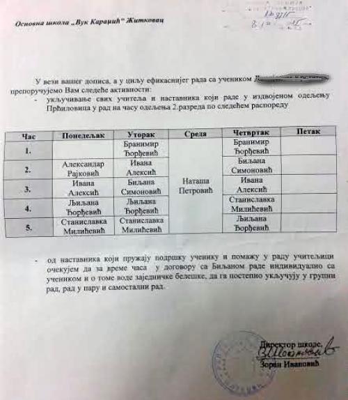 Скандал у Житковачкој школи - 4 учитељице за једно дете