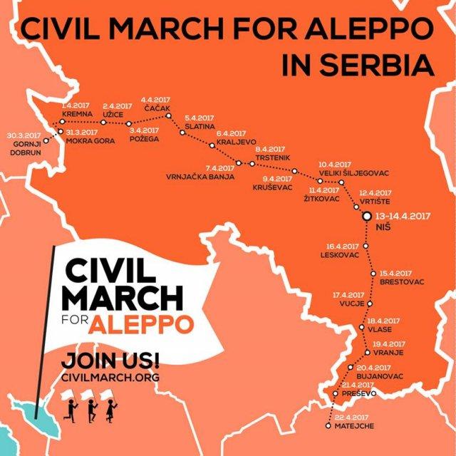 """""""Marš za Alep"""" prenoćio u Žitkovcu"""