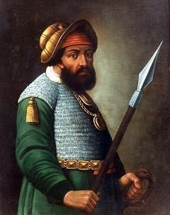 Portret Jermaka Timofejeviča. Stavropoljski regionalni muzej likovnih umetnosti. Nepoznati ruski umetnik (kraj 17. veka)