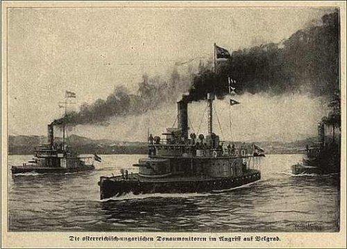 Austrougarski monitori pred Beogradom