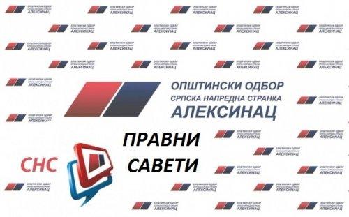 SNS organizuje besplatnu pravnu pomoć za građane