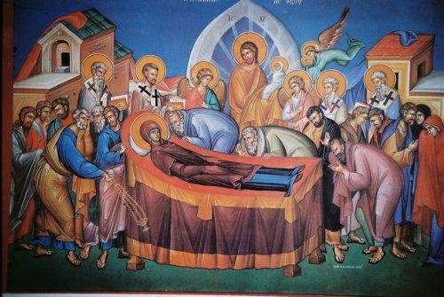 Uspenije Presvete Bogorodice, ilustracija