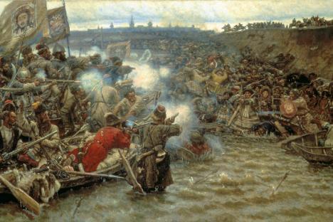 Vasilij Surikov (1848-1916): Jermakovo osvajanje Sibira (1895)