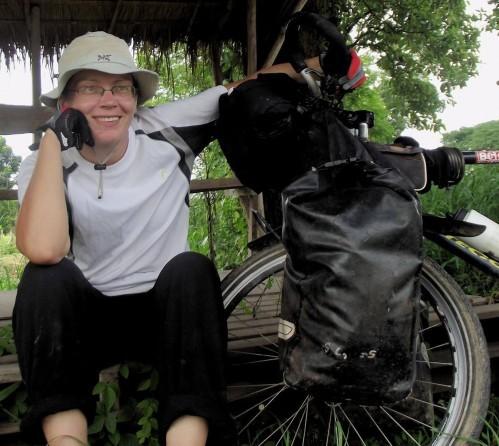 Светска путница - бициклисткиња у Алексинцу