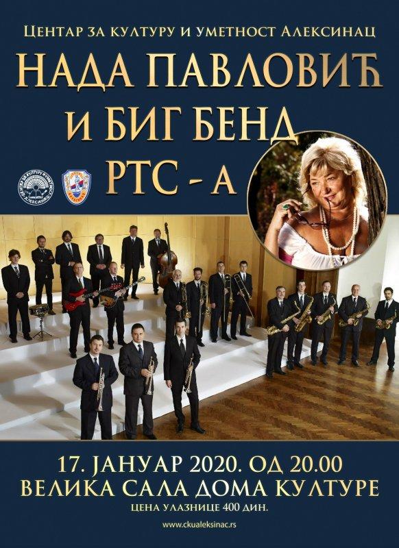 Концерт Наде Павловић и Биг Бенда РТС-а у Алексинцу