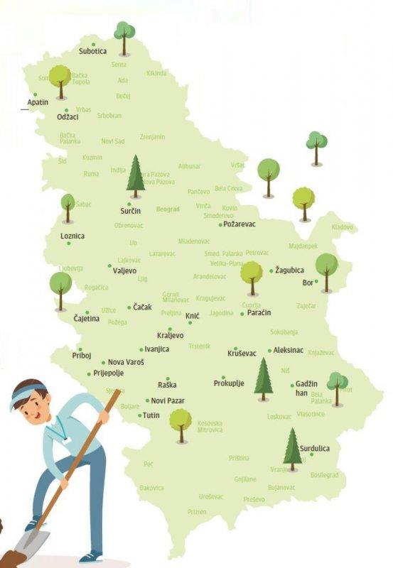 Na području Opštine Aleksinac sadićemo stabla 3. novembra!