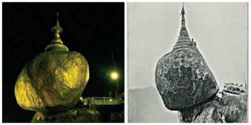 """Будистички """"стуб"""" у Мјанмару склон паду, али не пада"""