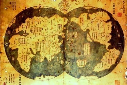 Древна кинеска карта света са обе Америке – пре Колумба