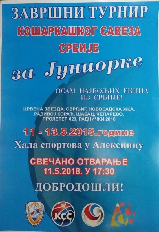 Завршни турнир државног првенства за јуниорке у Алексинцу