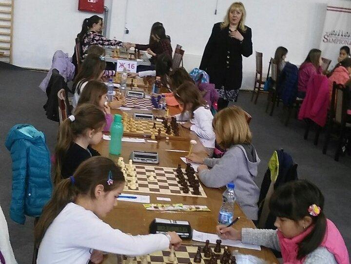 Anastasija Vojinović na prvenstvu Srbije u šahu