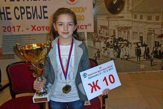 Анастасија Војиновић првак централне Србије