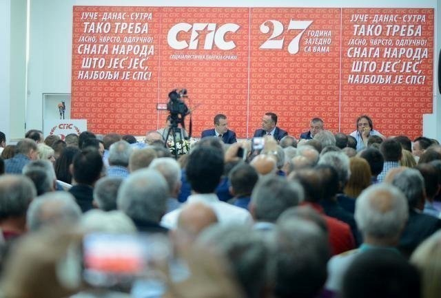 Dačić u Aleksincu: Zajedno sa SNS da udarimo temelje za novu, bolju Srbiju