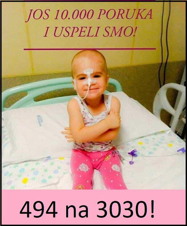 За лечење болесне девојчице за дан сакупили 182.000 динара