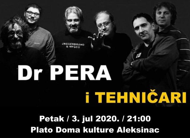 Večeras na ALEF-u: Rok koncert Dr Pera i Tehničari