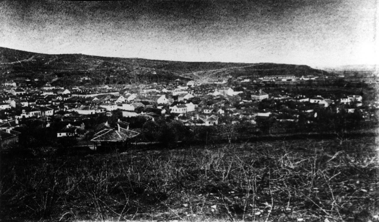 Јужни део Алексинца са Цариградским путем преко Брђанке и зградама карантина у подножју Брђанке