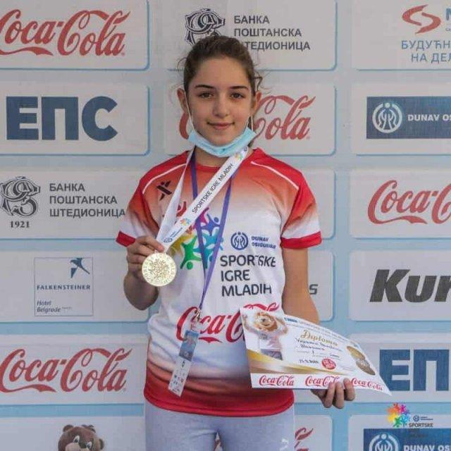 Анастасија првакиња такмичења Спортске игре младих