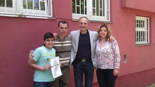 Andrija, prof. Dragan Živković, Radivoj Lazić, kompozitor i klarinetista i Sanja Pavlović, korepetitor i prof. klavira