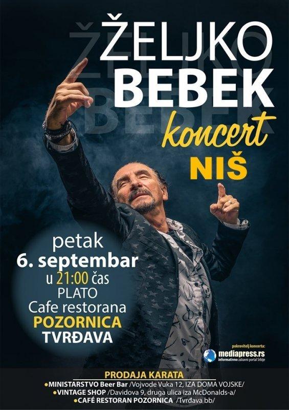 Жељко Бебек сутра одржава концерт у Нишу