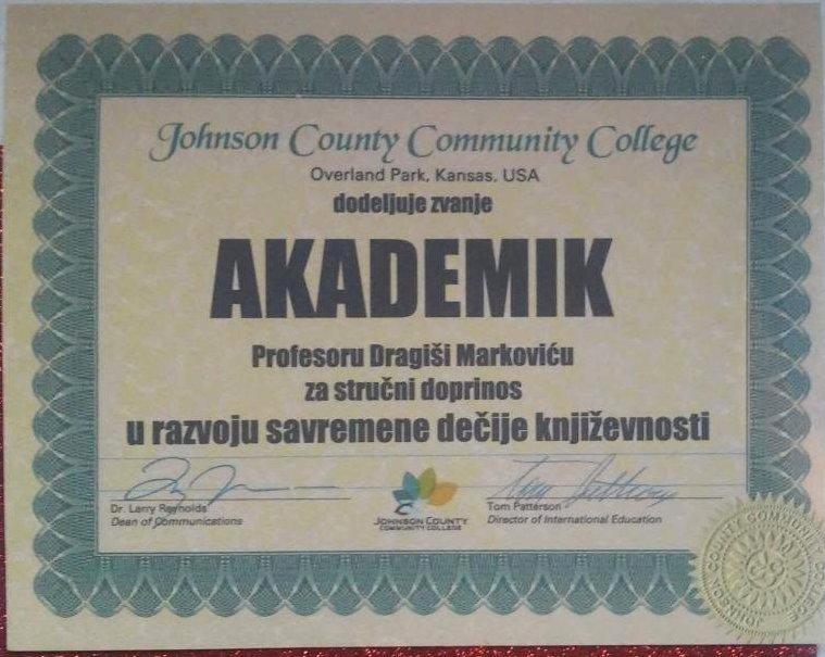 Dragiša Marković dobio zvanje akademika