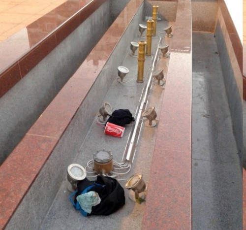 Украли месинг са фонтана