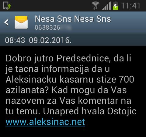 Председник општине без одговора на тему Азиланти у Алексинцу