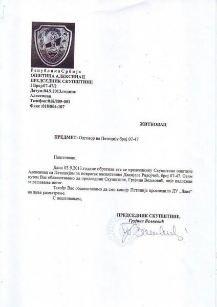 Predsednik SO nenadležan za peticije građana