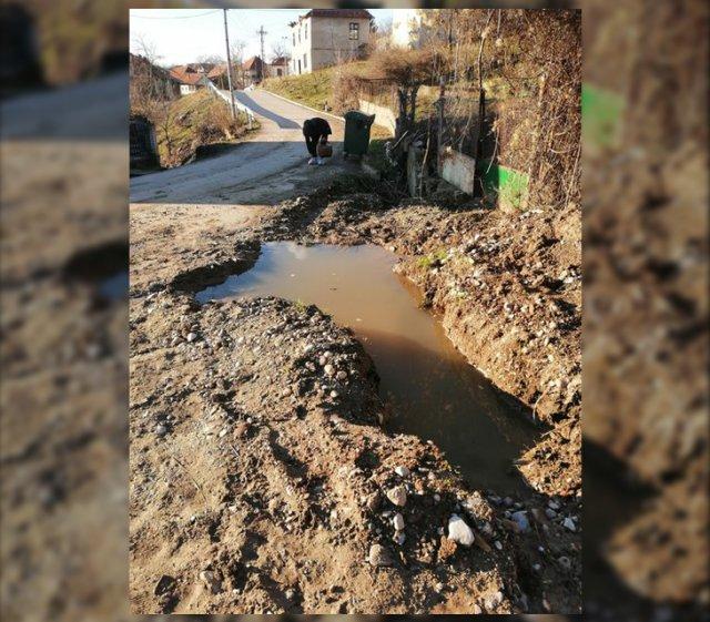 U Gornjem Krupcu raskopana ulica čeka grebani asfalt