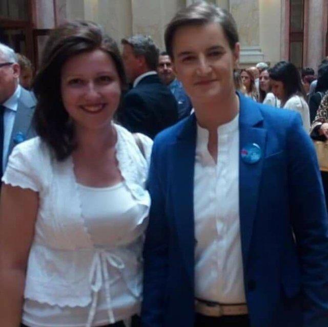 Irena Raca i predsednica Vlade Srbije Ana Brnabić