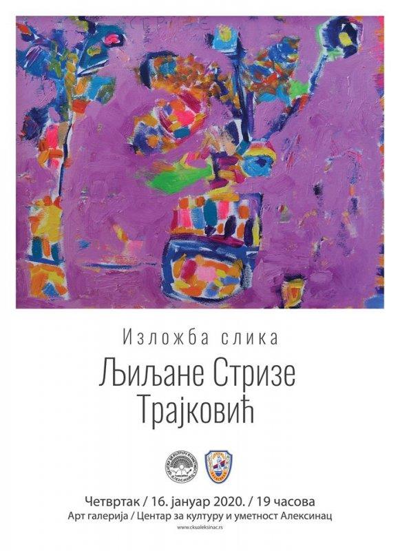 Samostalna izložba slika Ljiljane Strize - Trajković