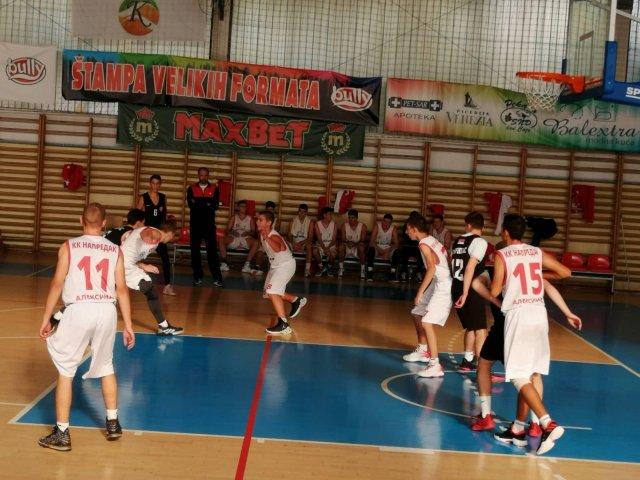 Ubedljiva prva pobeda mladog tima KK Napredak
