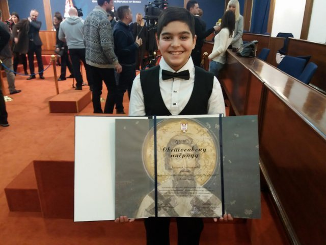 Oduševljenje povodom Svetosavske nagrade Andrije Jašarevića