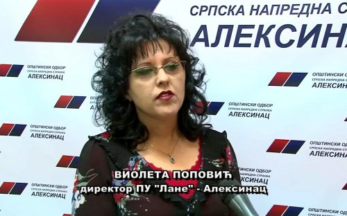 "СНС интервју: СНС интервју, Виолета Поповић, директорка ПУ ""Лане"" Алексинац"