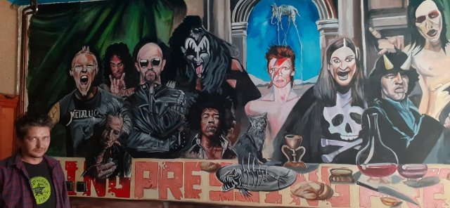 Nesvakidašnji mural krasi zid omiljenog svratišta obožavaoca rok muzike