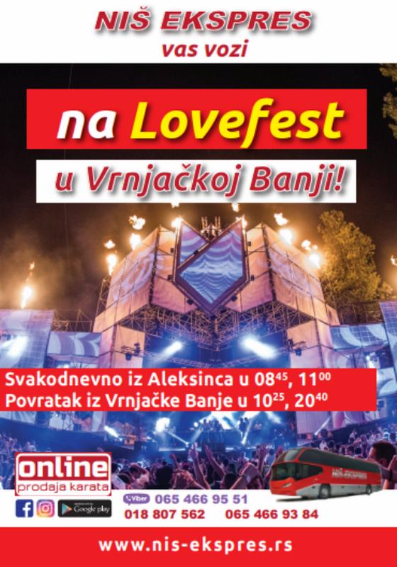 """""""Ниш-експресом"""" у Врњачку Бању на Love Fest"""