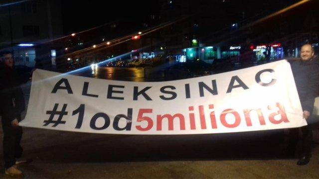 Građani Aleksinca izrazili svoje nezadovoljstvo na ulicama