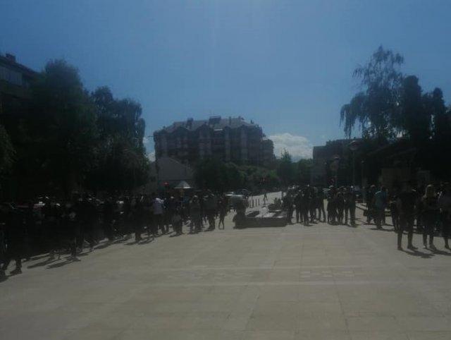 Одржан мирни протест због убиства младића у Алексинцу