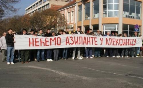 Одржан протестни скуп против најављеног доласка азиланата