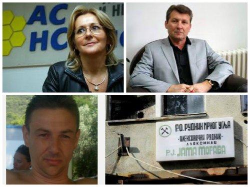 Ранка Савић и бивши министар у посети алексиначким рударима