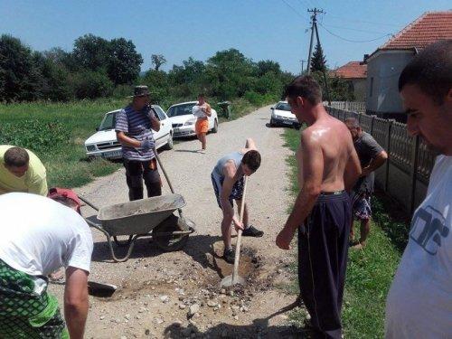 Уклонили и шипражје, грање и корев који су прекривали пут; фото: Б. П.