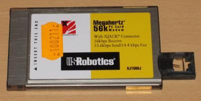 PCMCI FAX modem USRobotics 56K