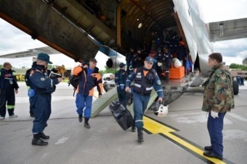 Тестирање опреме за спасавање која је стигла из Русије