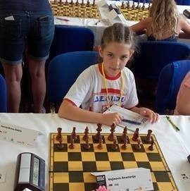 Анастасија Војиновић на Европском првенству за младе шахисте у Чешкој
