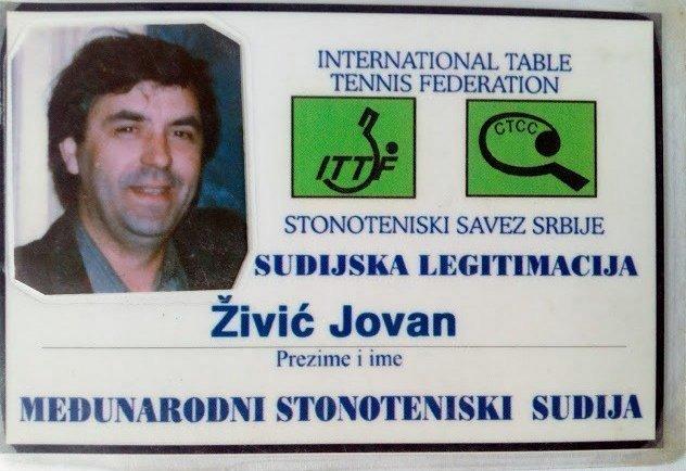 Јован Живић на турниру Међународне стонотениске федерације