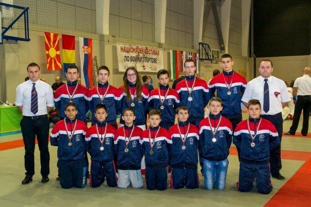 Festival borilačkih sportova u  Bugarskoj: 13 medalja za mlade borce